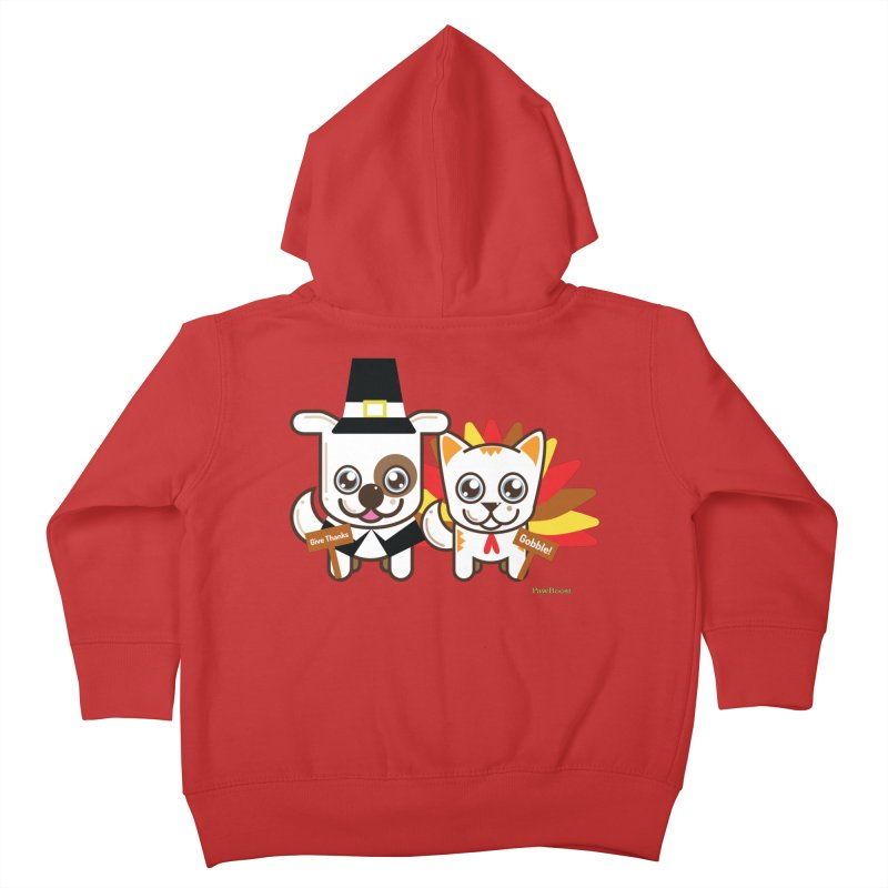 Toby & Moby (turkey day) Kids Toddler Zip-Up Hoody by PawBoost's Shop