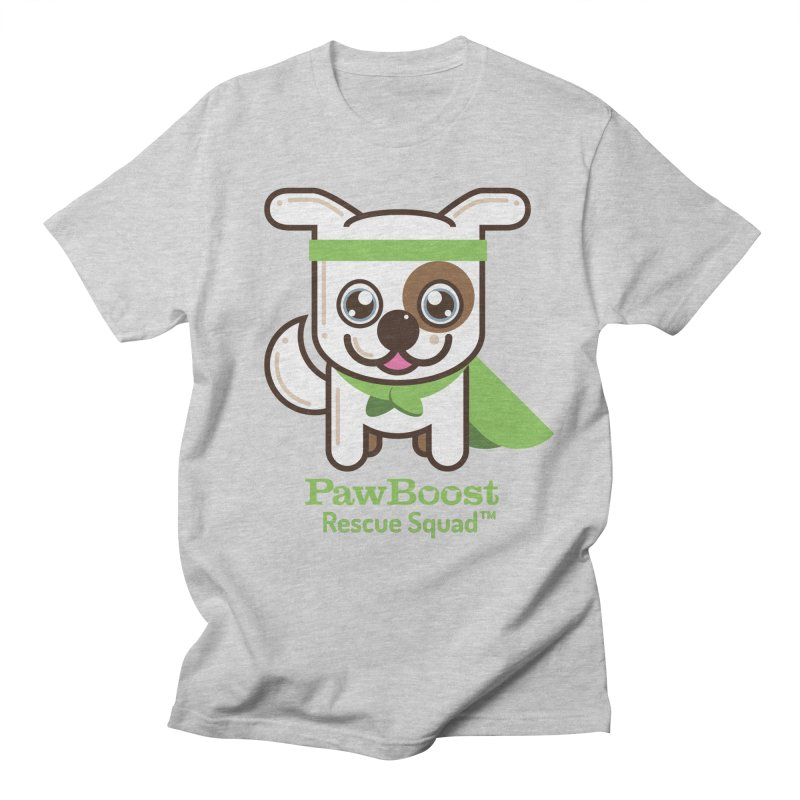 Toby (dog) in Men's Regular T-Shirt Heather Grey by PawBoost's Shop