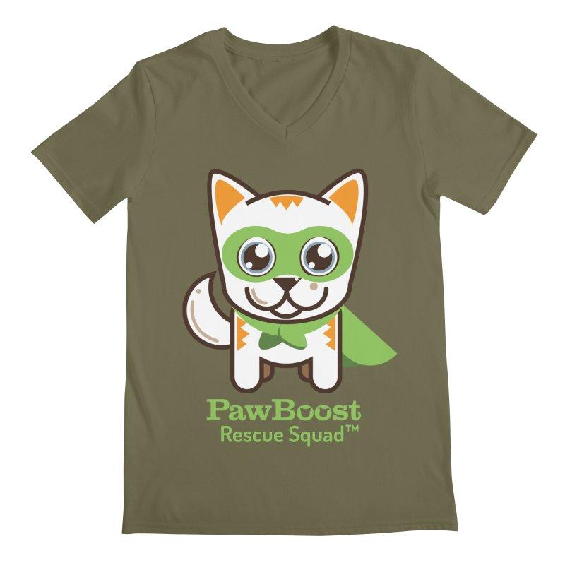 Moby (cat) Men's V-Neck by PawBoost's Shop