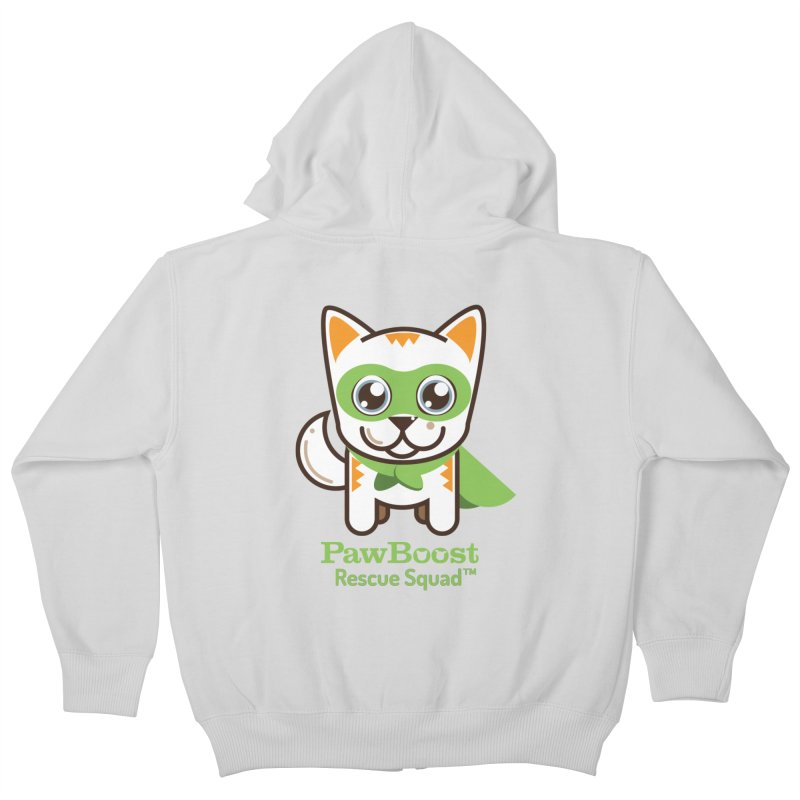 Moby (cat) Kids Zip-Up Hoody by PawBoost's Shop