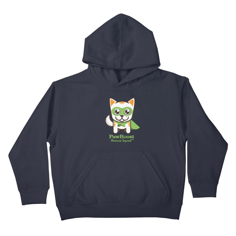 Moby (cat) Kids Pullover Hoody by PawBoost's Shop