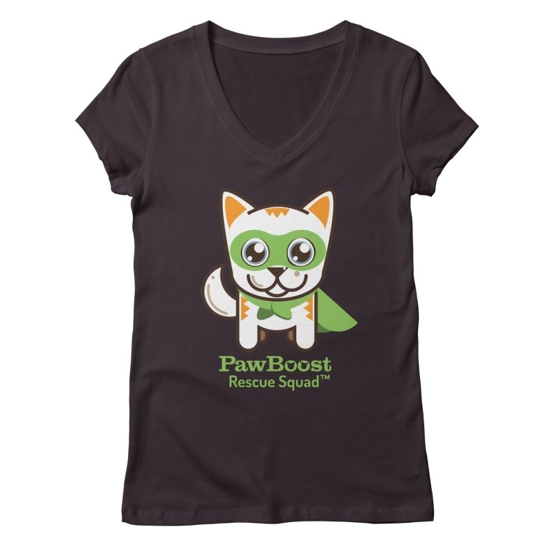 Moby (cat) Women's V-Neck by PawBoost's Shop