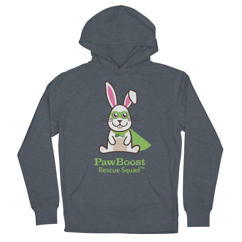 Riley (rabbit) in Men's French Terry Pullover Hoody Heather Navy Denim by PawBoost's Shop