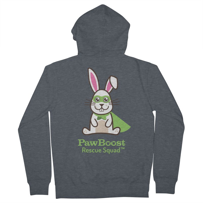 Riley (rabbit) Men's French Terry Zip-Up Hoody by PawBoost's Shop