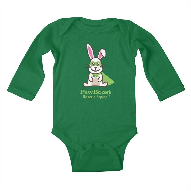 Riley (rabbit) Kids Baby Longsleeve Bodysuit by PawBoost's Shop