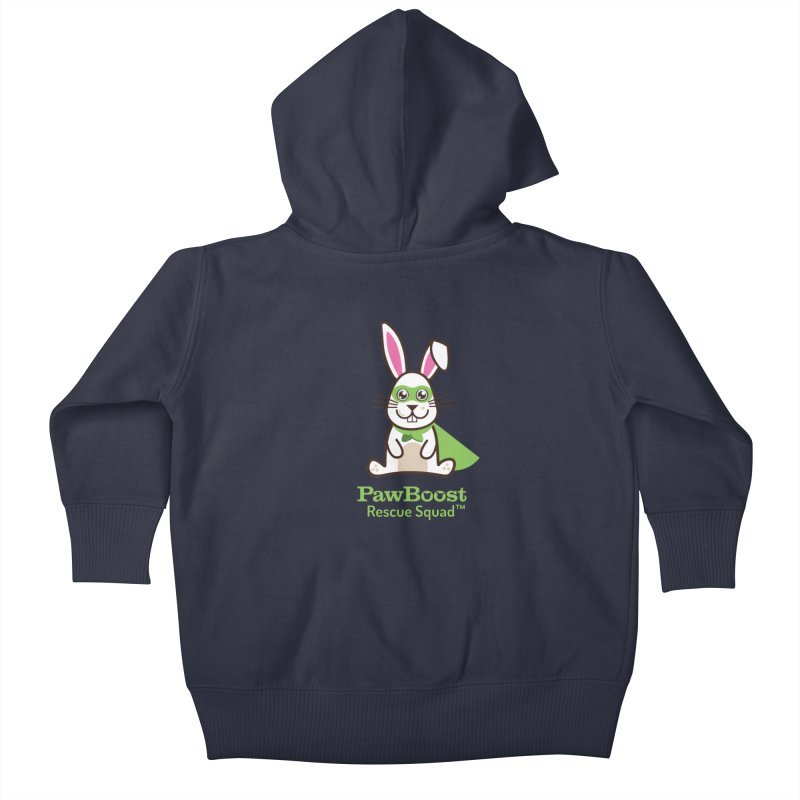 Riley (rabbit) Kids Baby Zip-Up Hoody by PawBoost's Shop