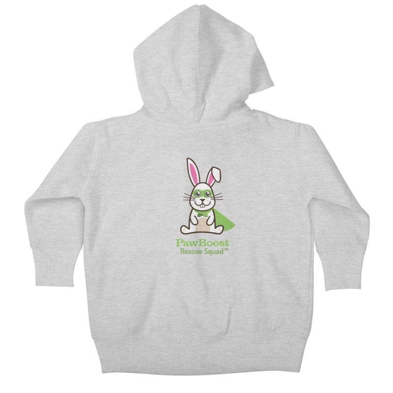 Riley (rabbit) Kids Baby Zip-Up Hoody by PawBoost's Shop