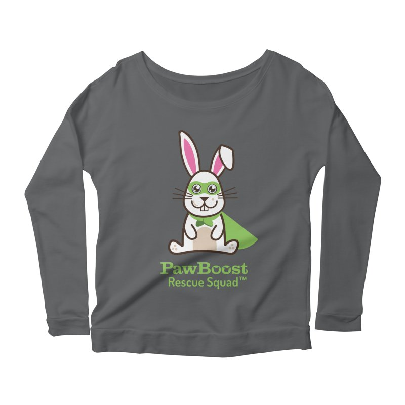 Riley (rabbit) Women's Scoop Neck Longsleeve T-Shirt by PawBoost's Shop