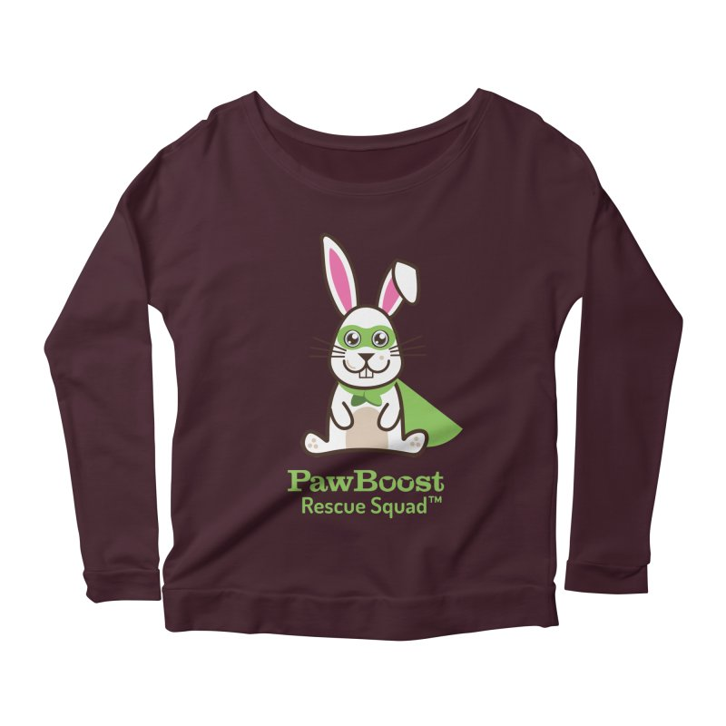 Riley (rabbit) Women's Longsleeve Scoopneck  by PawBoost's Shop