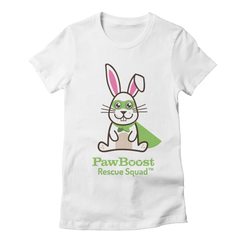 Riley (rabbit) Women's Fitted T-Shirt by PawBoost's Shop