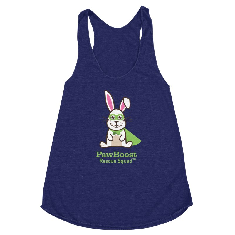 Riley (rabbit) Women's Racerback Triblend Tank by PawBoost's Shop