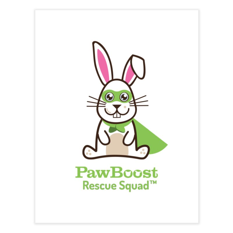 Riley (rabbit) Home Fine Art Print by PawBoost's Shop