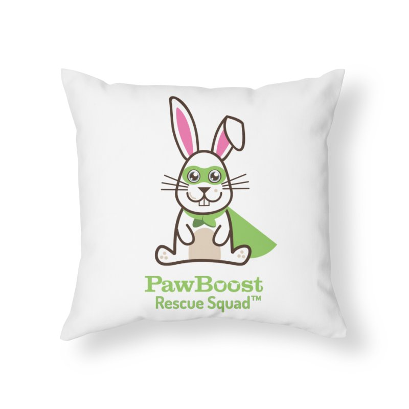 Riley (rabbit) Home Throw Pillow by PawBoost's Shop