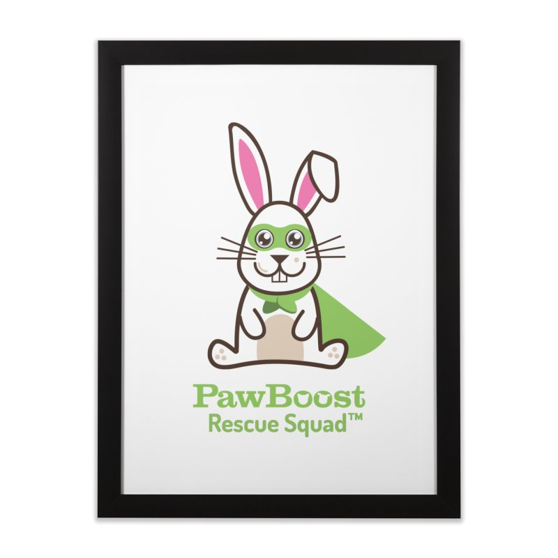 Riley (rabbit) Home Framed Fine Art Print by PawBoost's Shop