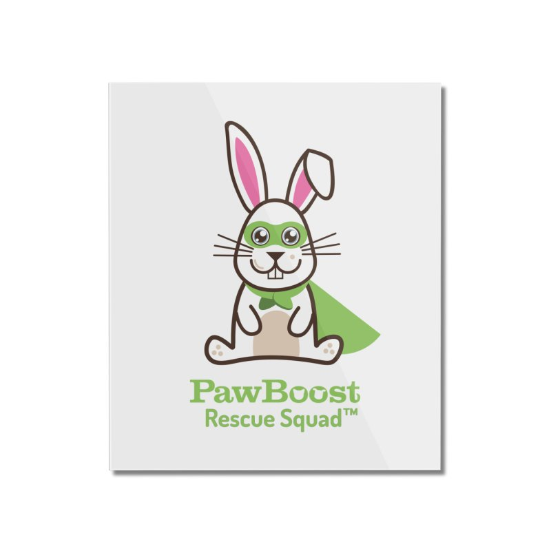 Riley (rabbit) Home Mounted Acrylic Print by PawBoost's Shop