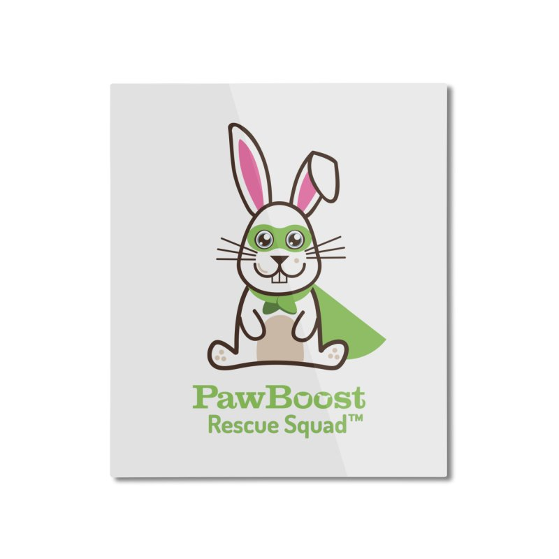 Riley (rabbit) Home Mounted Aluminum Print by PawBoost's Shop