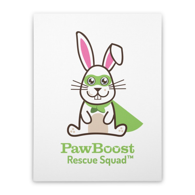 Riley (rabbit) Home Stretched Canvas by PawBoost's Shop