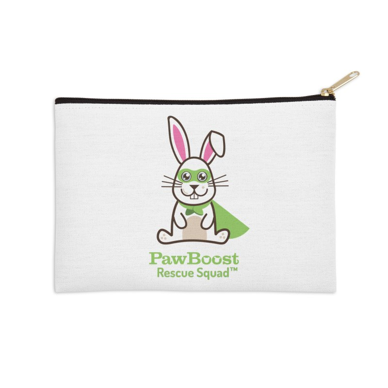 Riley (rabbit) Accessories Zip Pouch by PawBoost's Shop