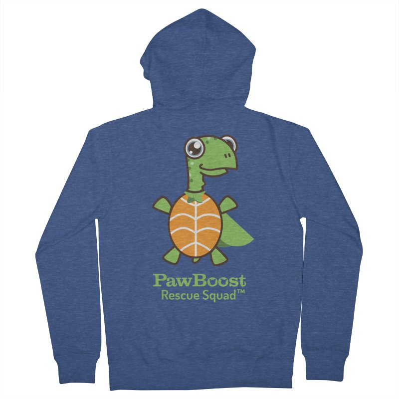 Tommy (turtle) Women's French Terry Zip-Up Hoody by PawBoost's Shop