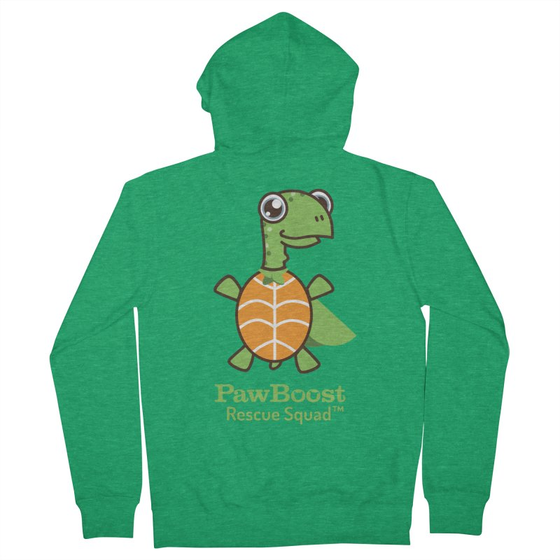 Tommy (turtle) Men's French Terry Zip-Up Hoody by PawBoost's Shop