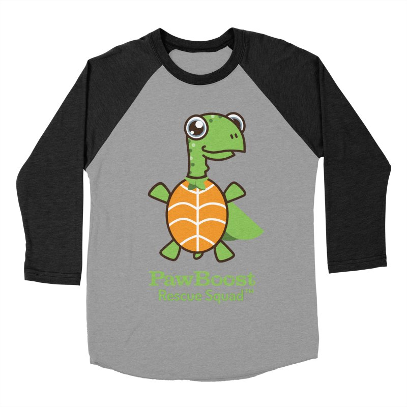 Tommy (turtle) Men's Baseball Triblend Longsleeve T-Shirt by PawBoost's Shop