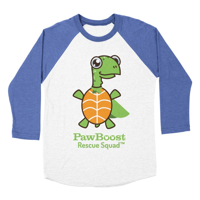 Tommy (turtle) Men's Baseball Triblend Longsleeve T-Shirt by PawBoost's Shop