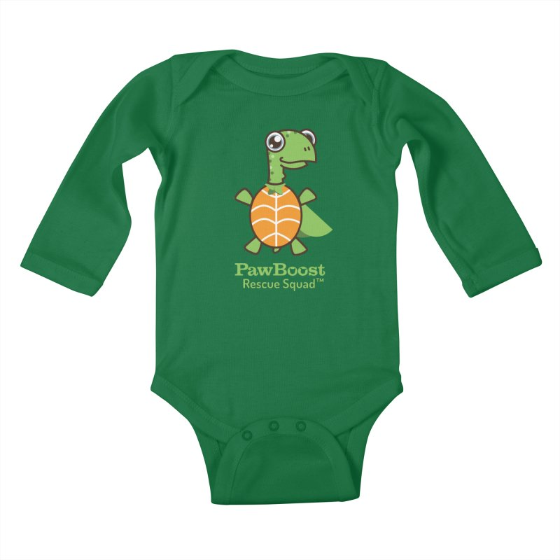 Tommy (turtle) Kids Baby Longsleeve Bodysuit by PawBoost's Shop