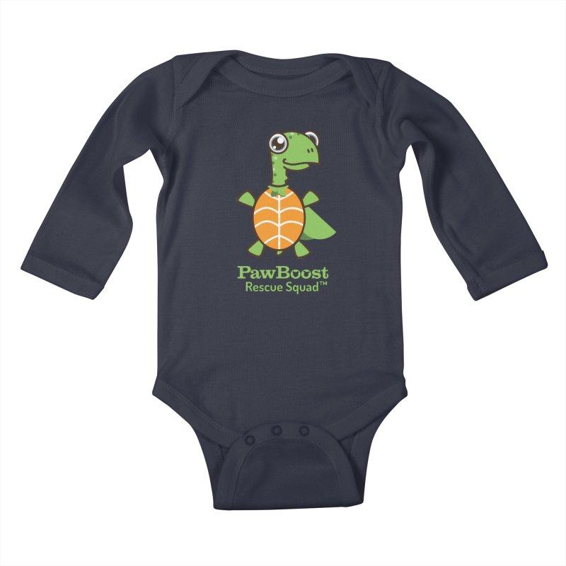 Tommy (turtle) Kids Baby Longsleeve Bodysuit by PawBoost's Shop