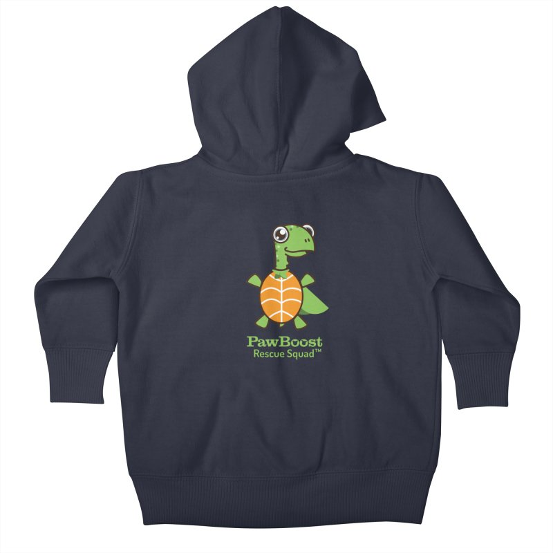 Tommy (turtle) Kids Baby Zip-Up Hoody by PawBoost's Shop