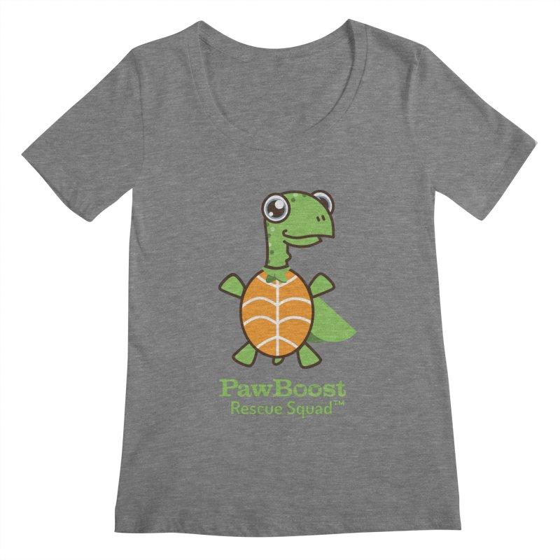Tommy (turtle) Women's Scoopneck by PawBoost's Shop