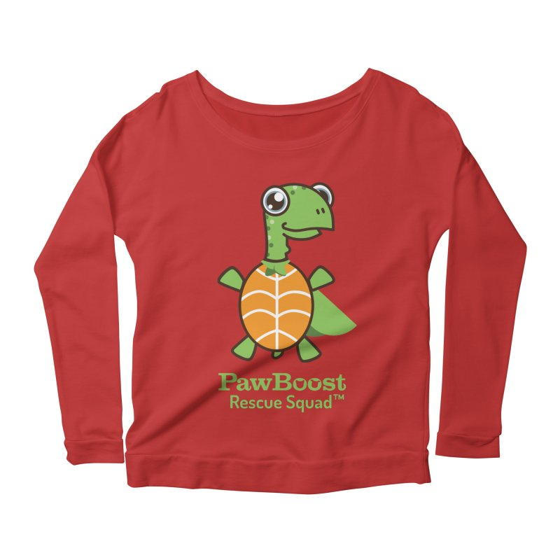 Tommy (turtle) Women's Longsleeve Scoopneck  by PawBoost's Shop