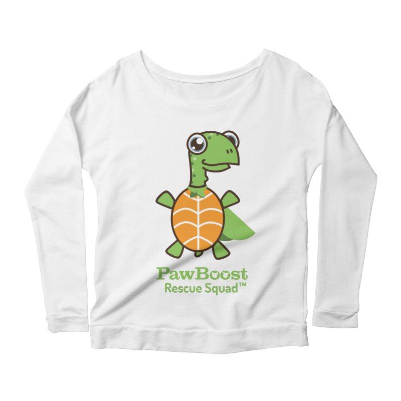 Tommy (turtle) Women's Scoop Neck Longsleeve T-Shirt by PawBoost's Shop