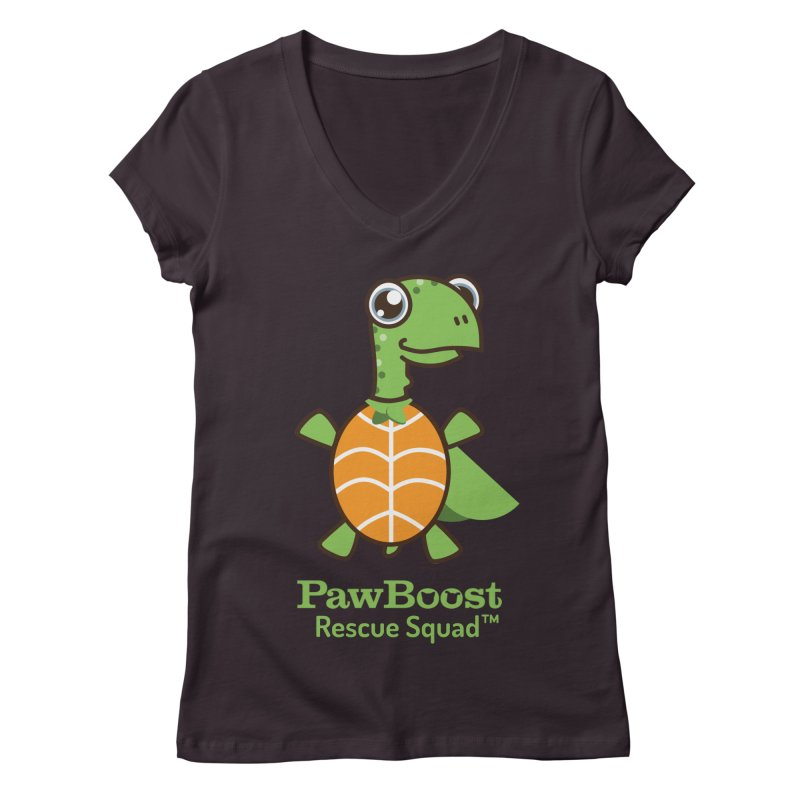 Tommy (turtle) Women's V-Neck by PawBoost's Shop