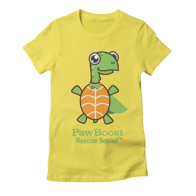 Tommy (turtle) Women's Fitted T-Shirt by PawBoost's Shop