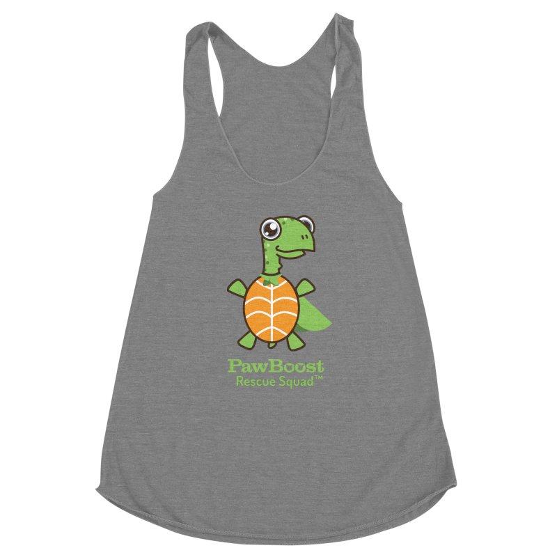 Tommy (turtle) Women's Racerback Triblend Tank by PawBoost's Shop