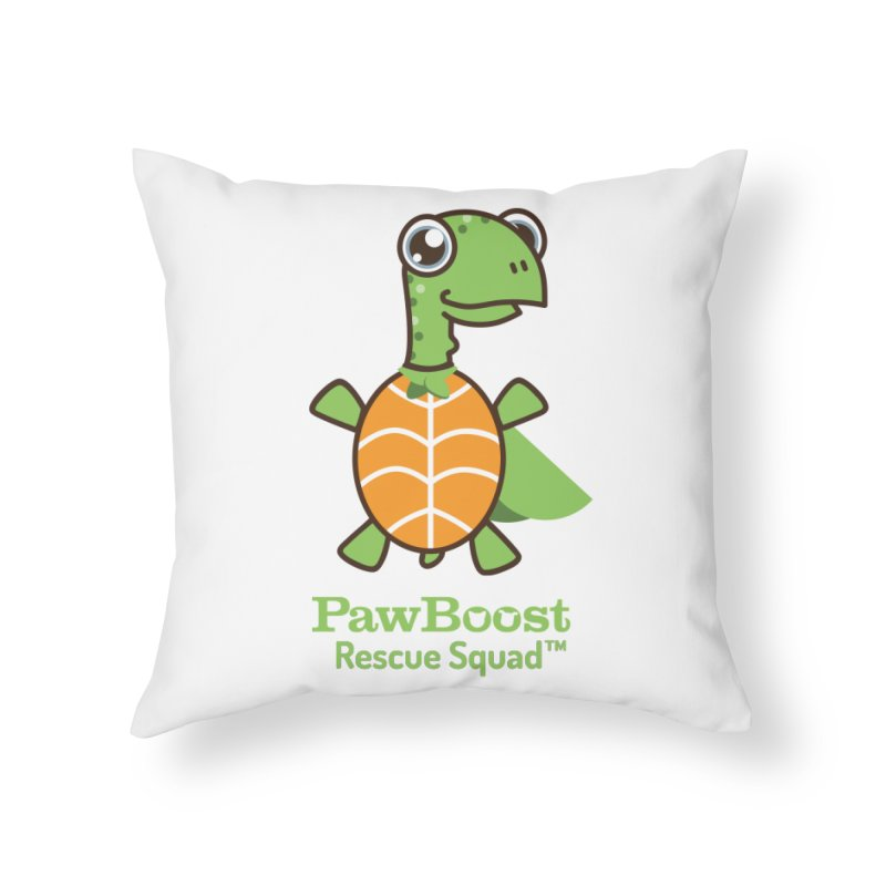 Tommy (turtle) Home Throw Pillow by PawBoost's Shop