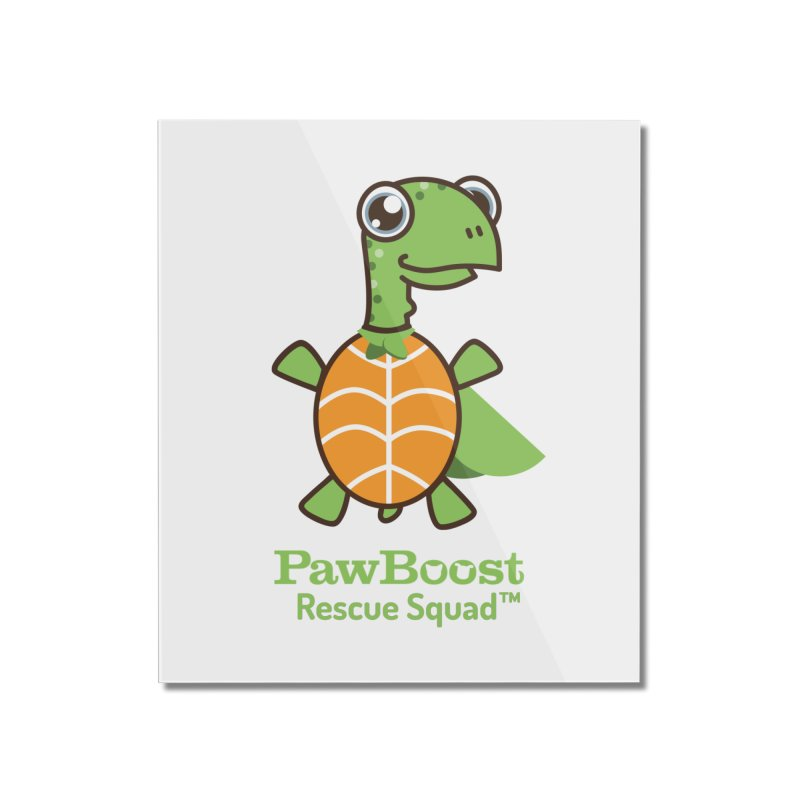 Tommy (turtle) Home Mounted Acrylic Print by PawBoost's Shop