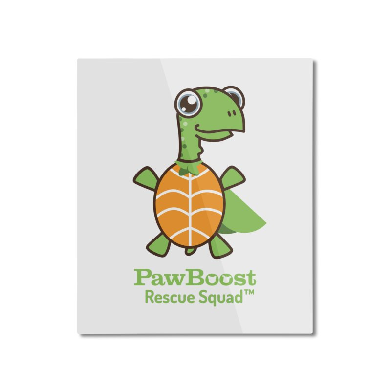 Tommy (turtle) Home Mounted Aluminum Print by PawBoost's Shop