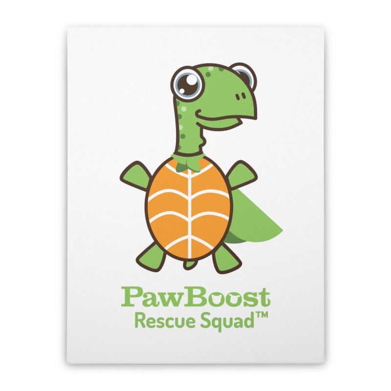 Tommy (turtle) Home Stretched Canvas by PawBoost's Shop