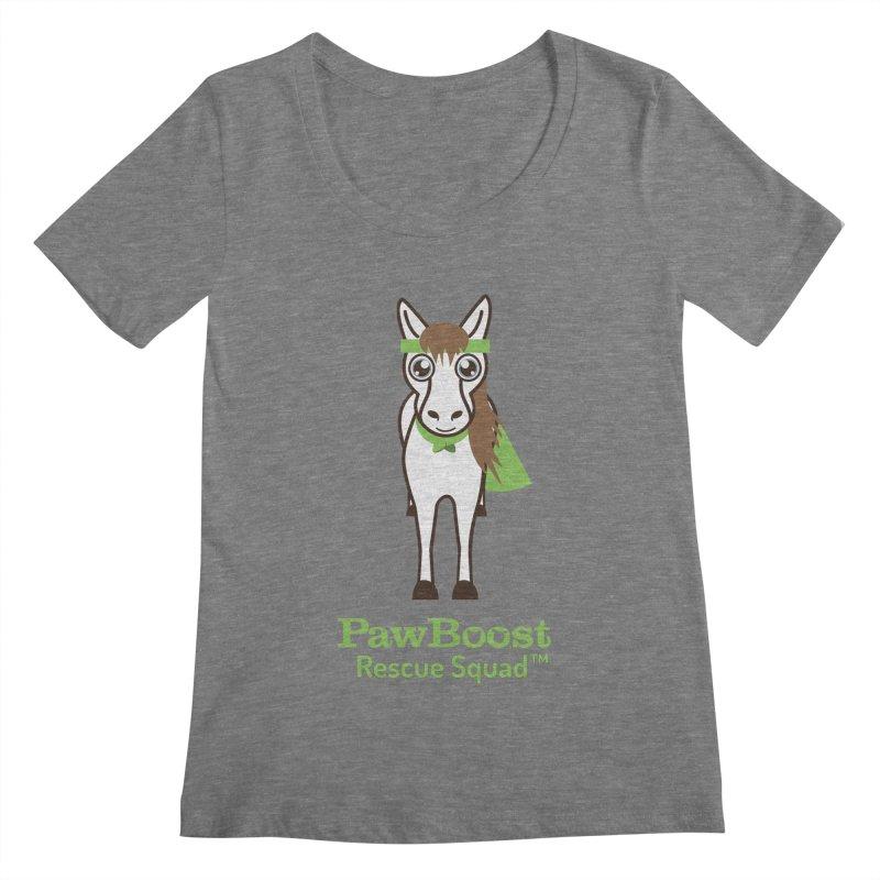 Harry (horse) Women's Scoopneck by PawBoost's Shop