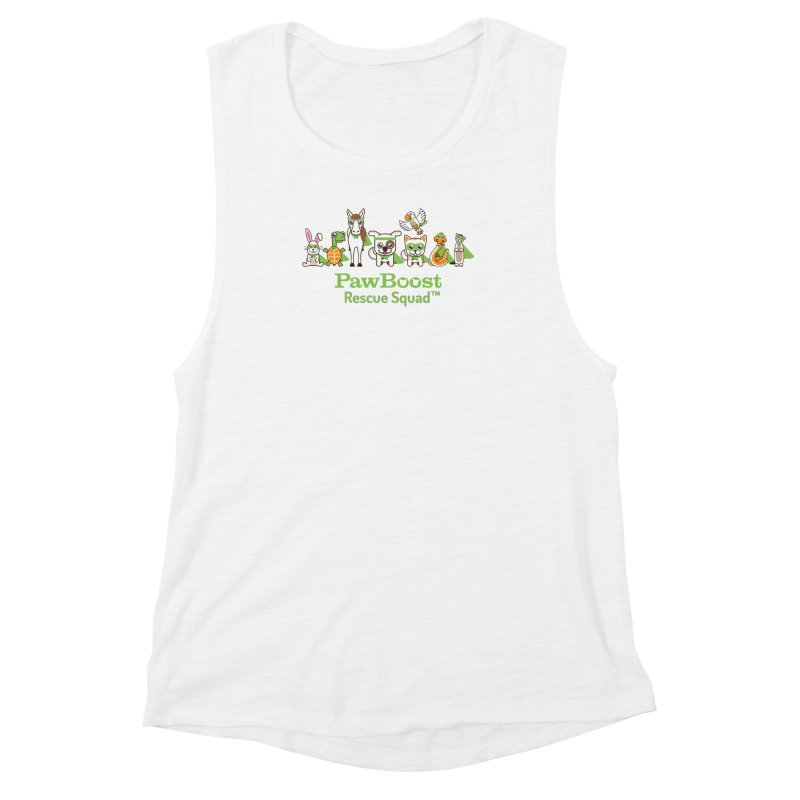Rescue Squad (group) Women's Muscle Tank by PawBoost's Shop