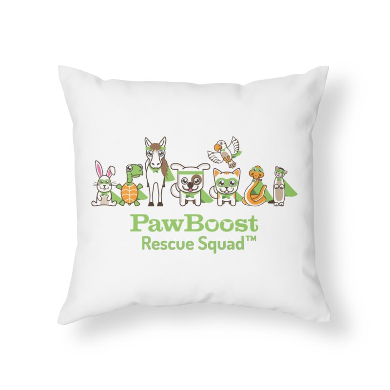 Rescue Squad (group) Home Throw Pillow by PawBoost's Shop