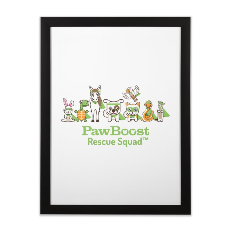 Rescue Squad (group) Home Framed Fine Art Print by PawBoost's Shop