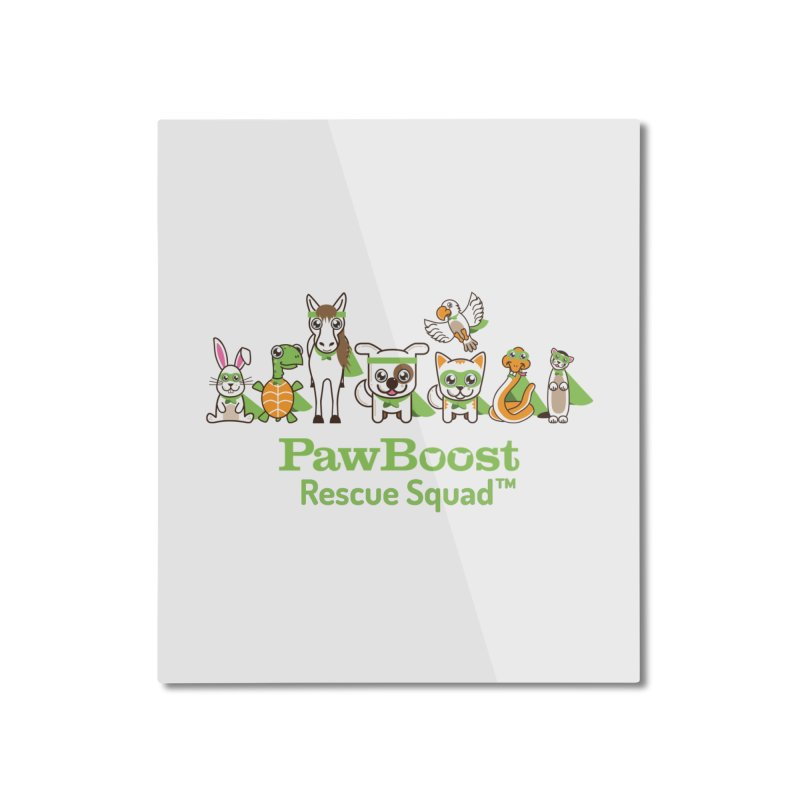 Rescue Squad (group) Home Mounted Aluminum Print by PawBoost's Shop