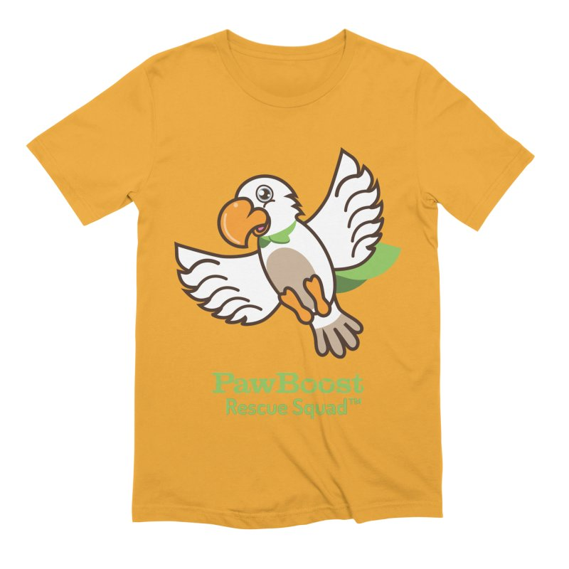 Perry (parrot) Men's Extra Soft T-Shirt by PawBoost's Shop