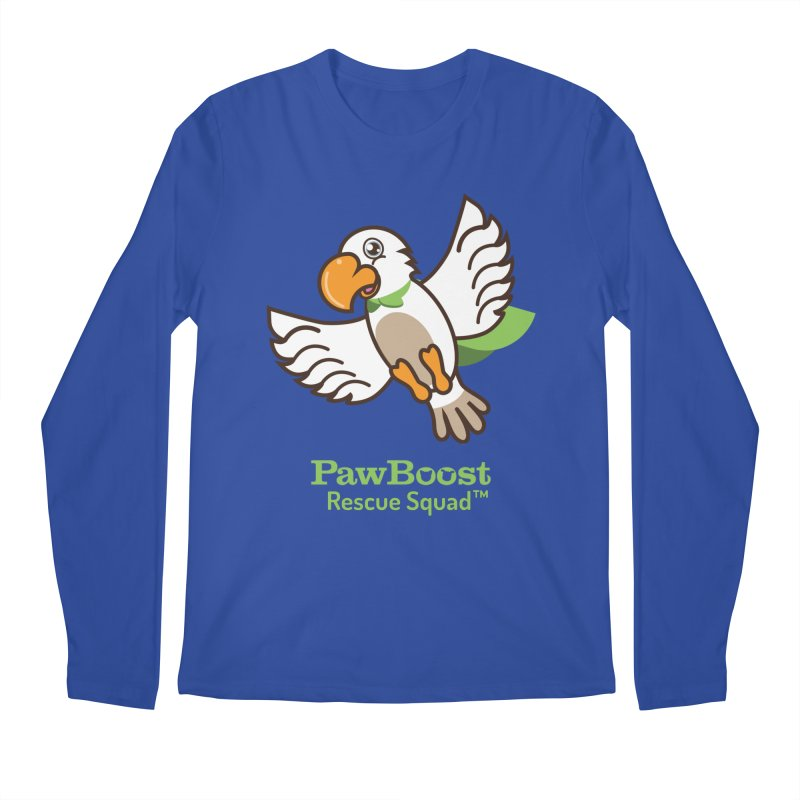 Perry (parrot) in Men's Regular Longsleeve T-Shirt Royal Blue by PawBoost's Shop
