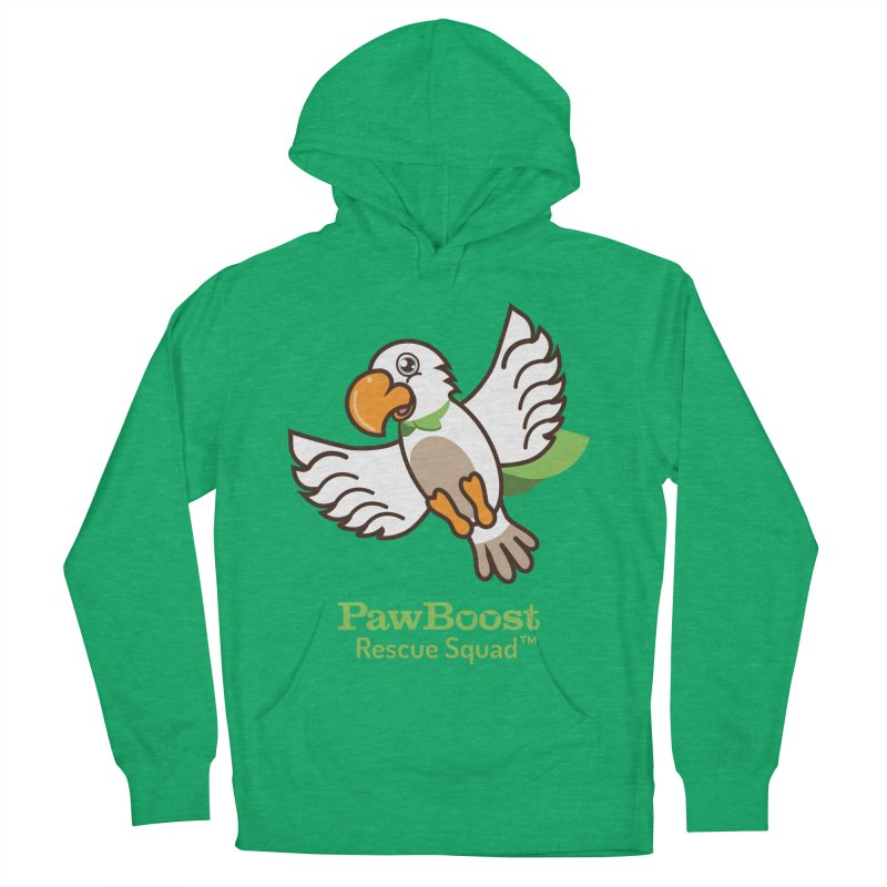 Perry (parrot) Women's French Terry Pullover Hoody by PawBoost's Shop