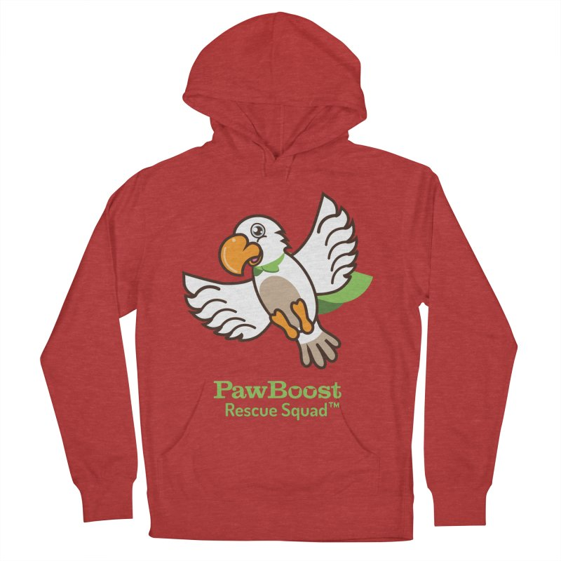Perry (parrot) Men's French Terry Pullover Hoody by PawBoost's Shop