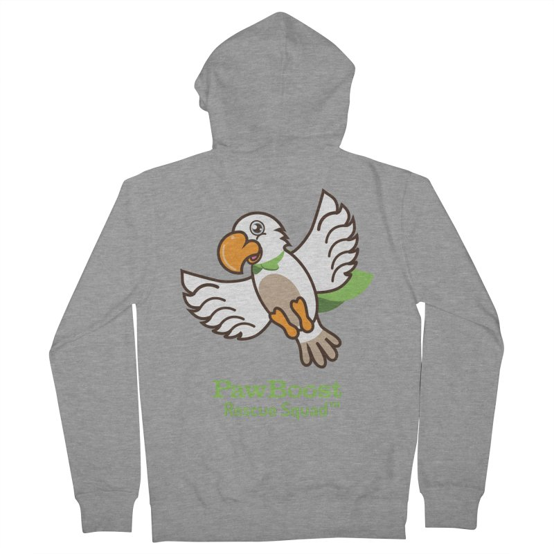 Perry (parrot) Men's French Terry Zip-Up Hoody by PawBoost's Shop