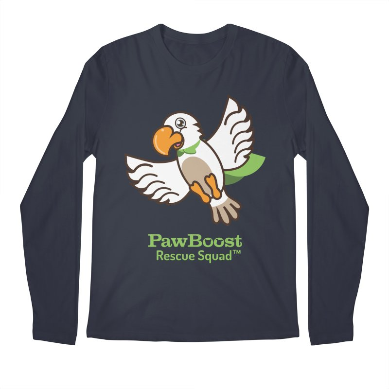 Perry (parrot) Men's Longsleeve T-Shirt by PawBoost's Shop